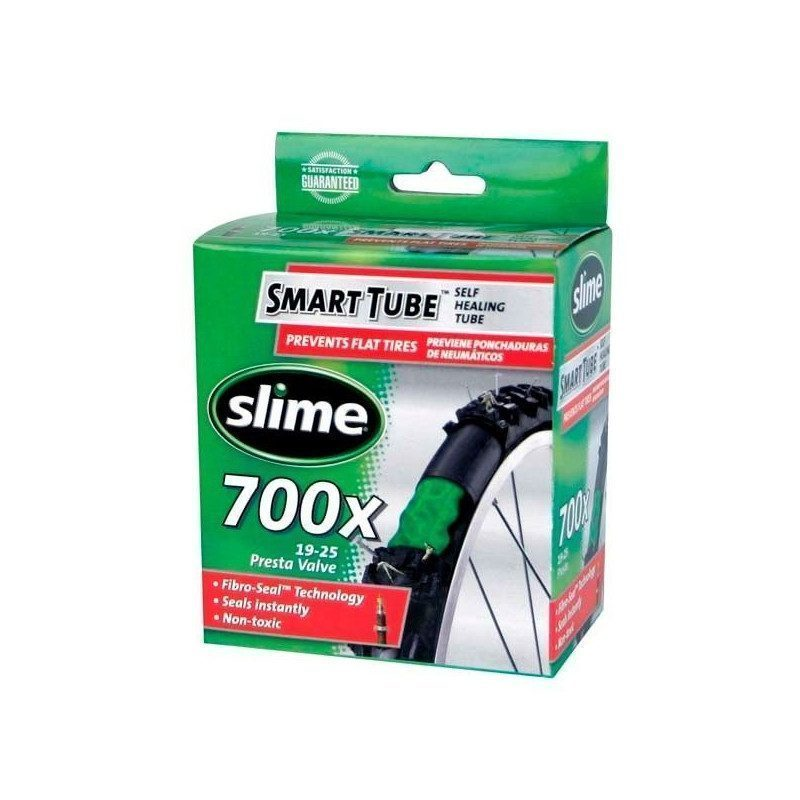 Chambre air v lo route slime smart tube 700x19 25 anti for Chambre a air velo route
