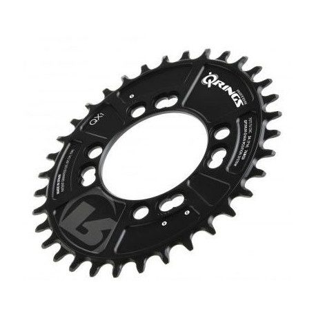 Plateau ovalisé VTT Rotor QX1 entraxe 76mm 4 branches