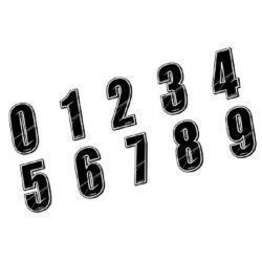 Stickers numéros de plaque BMX Maikun Noir 8 cm