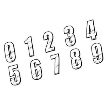 Stickers numéros de plaque BMX Maikun Blanc 8 cm