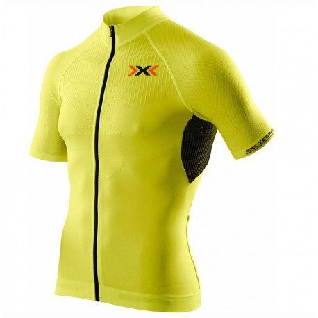 Maillot vélo manches courtes X-Bionic The Trick Bike Shirt jaune