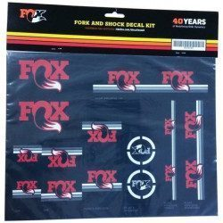 Lot d'autocollants Fox Heritage Decal Set rouge pour fourche et amortisseur