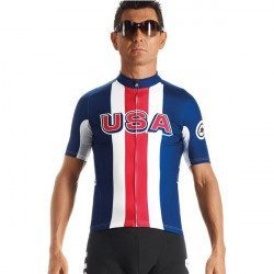 Maillot vélo manches courtes Assos SS.Jersey USA Cycling