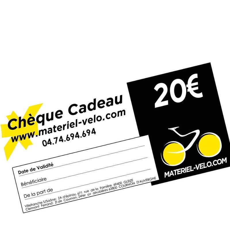 Chèque cadeau 20€ Materiel-velo.com