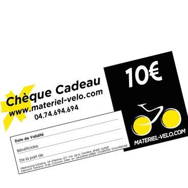 Chèque cadeau 10€ Materiel-velo.com