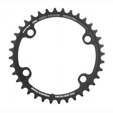 Plateau vélo route interne Rotor noQ rond pour pédalier Aldhu, Shimano R8000 et R9100