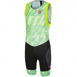 Combinaison triathlon trifonction sans manches Castelli Short Distance Suit Pro Green