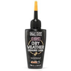 Lubrifiant chaine conditions sèches Muc-Off Ebike Dry Weather Ceramic Lube 50 ml