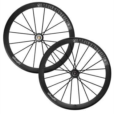 Roues carbone vélo route Lightweight Meilenstein 24E à pneus avec housses
