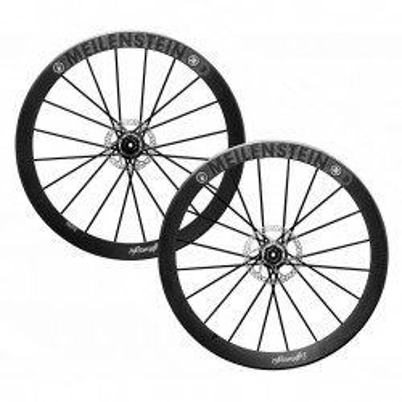 Roues carbone vélo route Lightweight Meilenstein T 24D à pneus avec housses