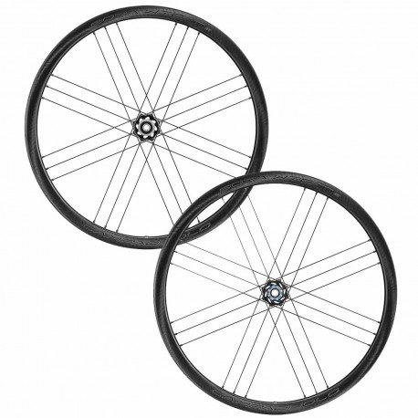 Roues vélo route carbone Campagnolo Bora WTO 33 Disc WH-20 Dark Label