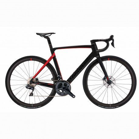 Vélo route Wilier Triestina Cento10 Pro Disc Sram Force AXS roues NDR38KC Black/Red Mat 2020