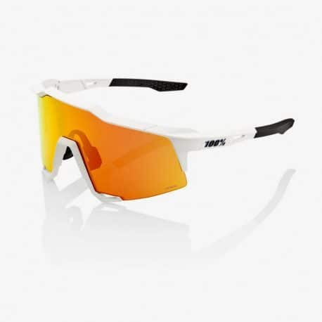 Lunettes vélo Ride 100% Speedcraft Off White HiPER Red Multilayer Mirror Lens