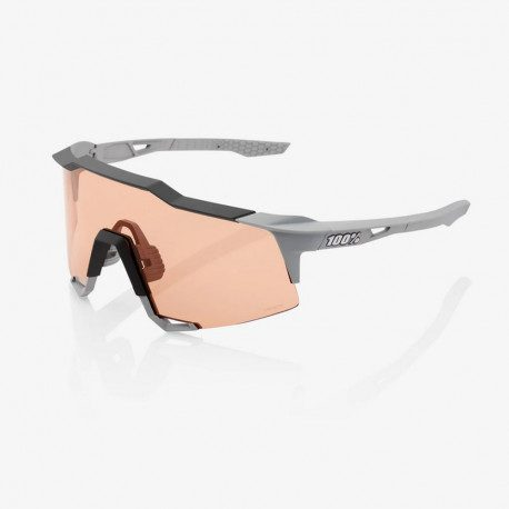 Lunettes vélo 100% Speedcraft Soft Tact Stone HiPER Coral Lens