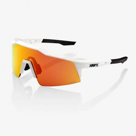 Lunettes vélo 100% Speedcraft SL Soft Tact Off White HiPER Red Multilayer Mirror Lens