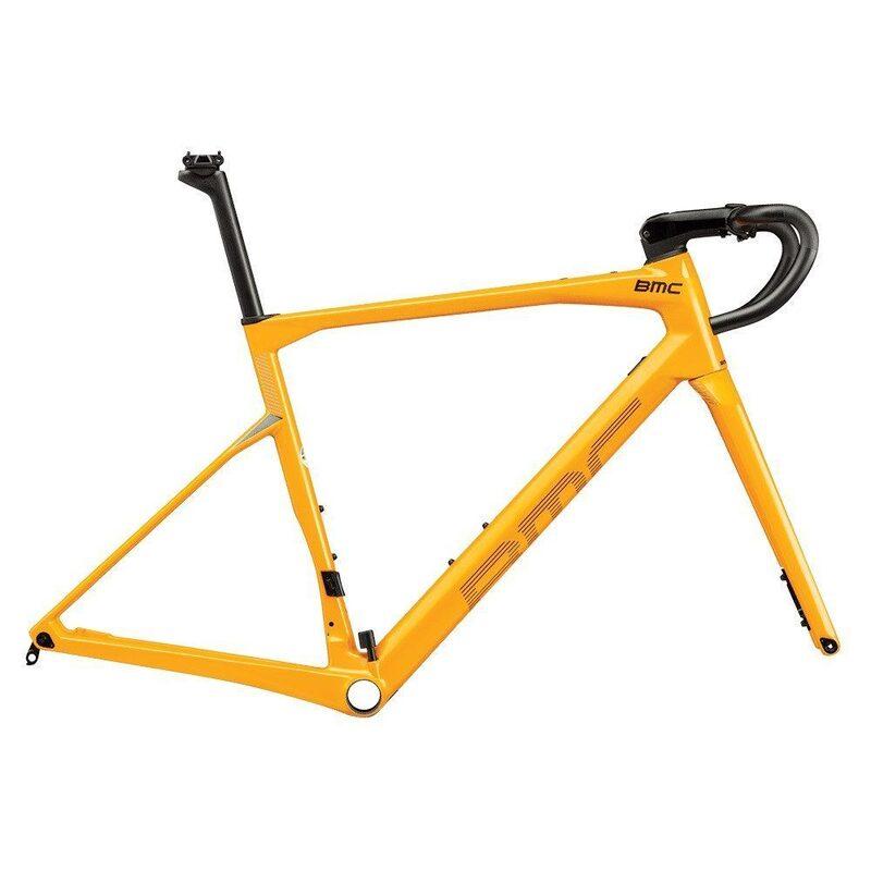 Kit cadre vélo route BMC Roadmachine RM01 MOD Disc canary yellow/white 2021