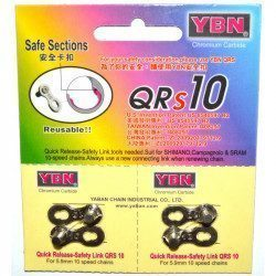 Lot de 2 attaches rapides chaîne 10v Yaban QRs10