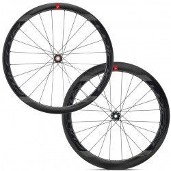 Roues vélo route carbone Fulcrum Wind 40-55 Disc Brake RW45-20 2-Way Fit Tubeless