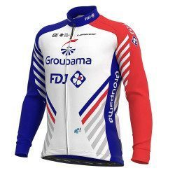Maillot vélo manches longues Groupama FDJ Replica 2021