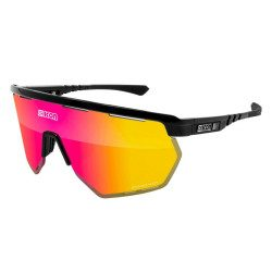 Lunettes vélo Scicon Aerowing Black Gloss Multimirror Red
