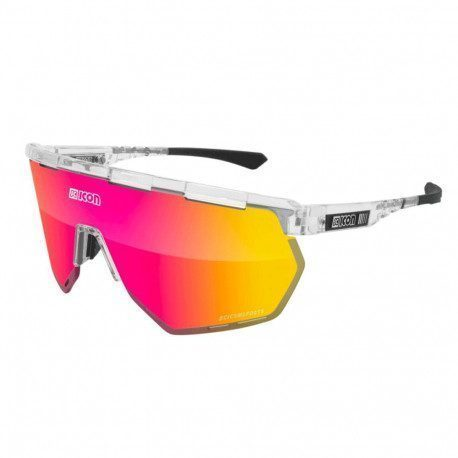 Lunettes vélo Scicon Aerowing Crystal Gloss Multimirror Red