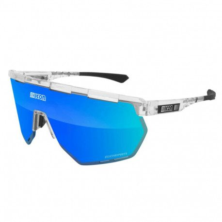 Lunettes vélo Scicon Aerowing Crystal Gloss Multimirror Blue