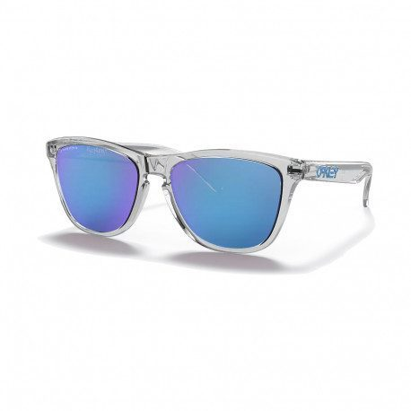 Lunettes vélo Oakley Frogskins Crystal Clear Prizm Sapphire