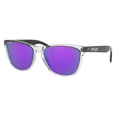 Lunettes vélo Oakley Frogskins 35th Anniversary Polished Clear Prizm Violet