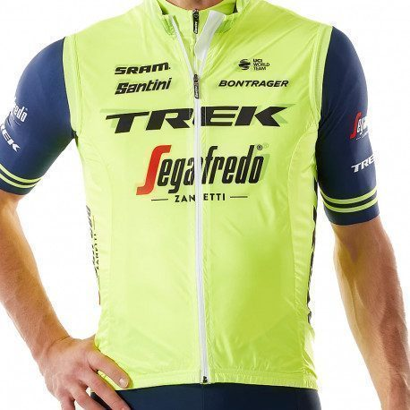Gilet coupe-vent Santini Trek Segafredo Yellow Training Replica