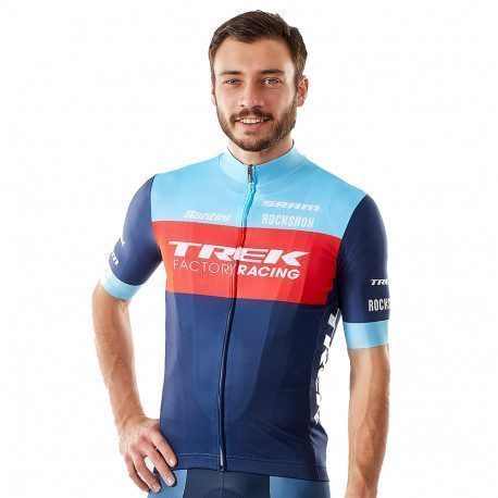 Maillot VTT XC manches courtes Santini Trek Factory Racing Replica