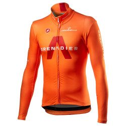 Maillot vélo manches longues Castelli Thermal Team Ineos Grenadier Orange 2021