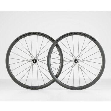 Roues vélo route carbone Bontrager Aeolus Pro 37 Disc TLR sans pneus - Exposition