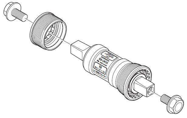 Boîtier de pédalier à axe carré : rudimentaire mais fiable.